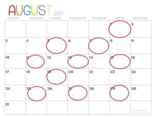 AugustSchedule